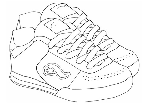 Coloriage Chaussure Sport