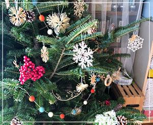 今年のクリスマスツリーはこんな感じに