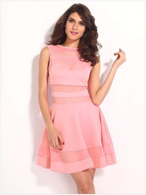 Cheap Mesh Pink Short Cute Sexy Dresses For Club   Online