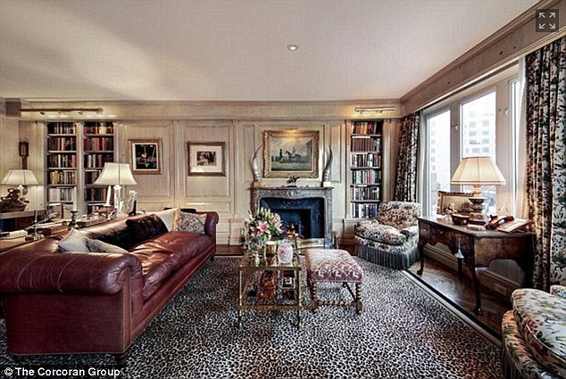 Her den:Joan, who passed away in September 4, 2014 from a surgery gone wrong, decorated her home in an orate fashion