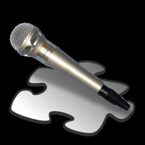English: Karaoke stub icon