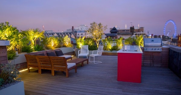 Rooftop garden barbeque