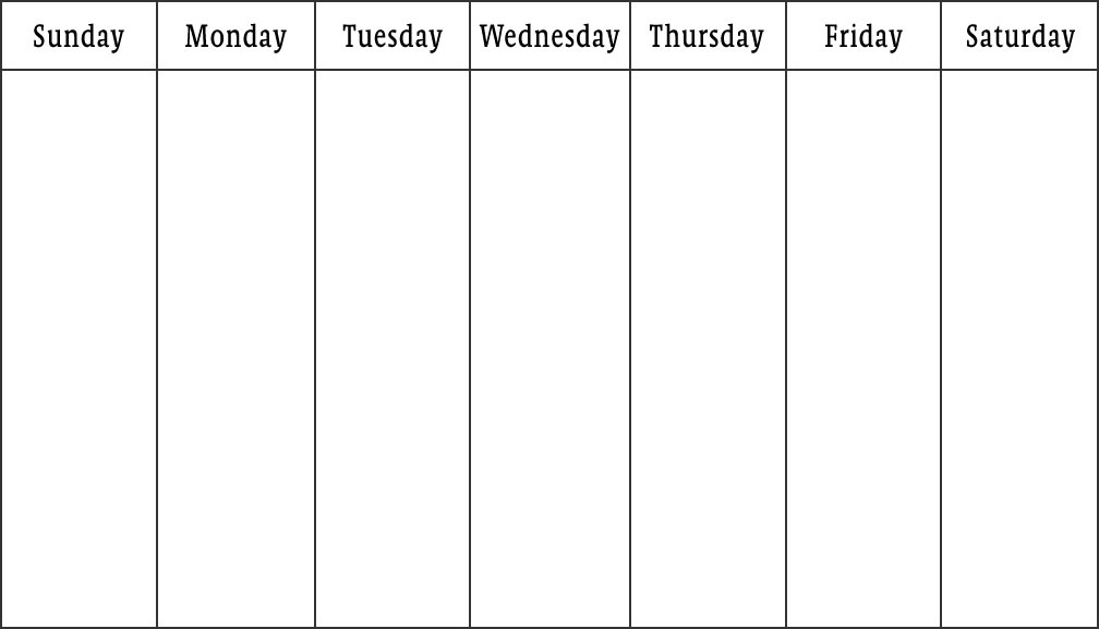 8 Best Images of 7- Day Calendar Printable - 7-Day Calendar ...