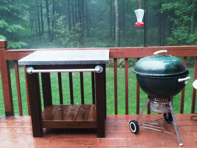 Ana White | Grill table with stainless steel top - DIY ...