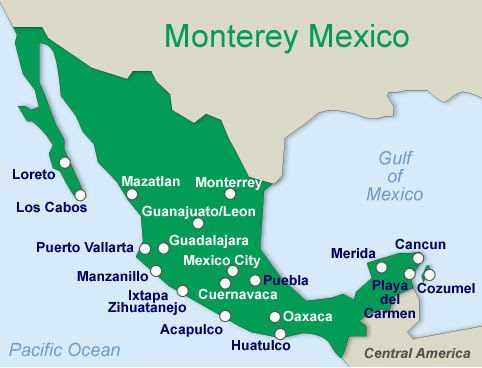 Monterrey Map And Monterrey Satellite Image