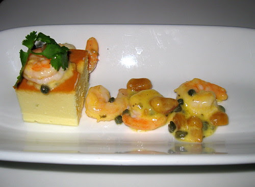 Shrimp with Cheese Pudding