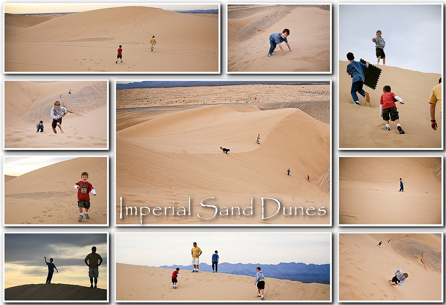 imperial sand dunes collage