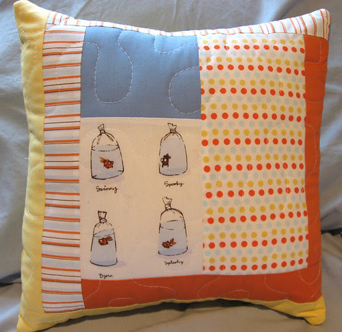 fish pillow front