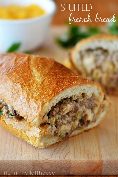 stuffed bread recipe dishmaps