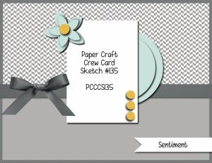 Paper Craft Crew Card Sketch 135 #stampinup #papercraftcrew #papercrafts #cardchallenge