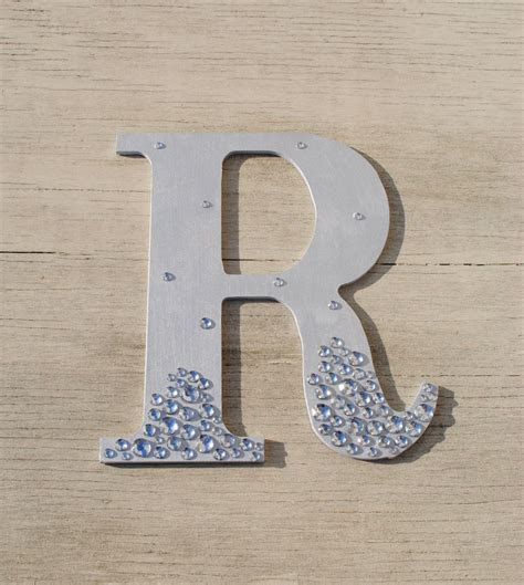 Silver Semi Bling Sparkle Wall Letters Wedding Decor