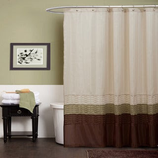 Lush Decor Mia Green / Brown Shower Curtain | Overstock.