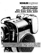 Kohler K301 Manuals
