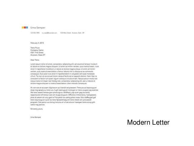 modern letter