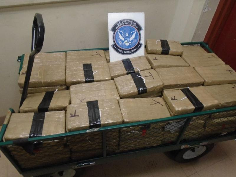 CBP officers at the Port of Douglas seized nearly 120 pounds of marijuana from within a smuggling vehicle