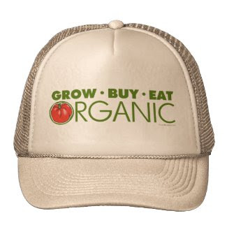 Grow, Buy, Eat Organic Mesh Hats