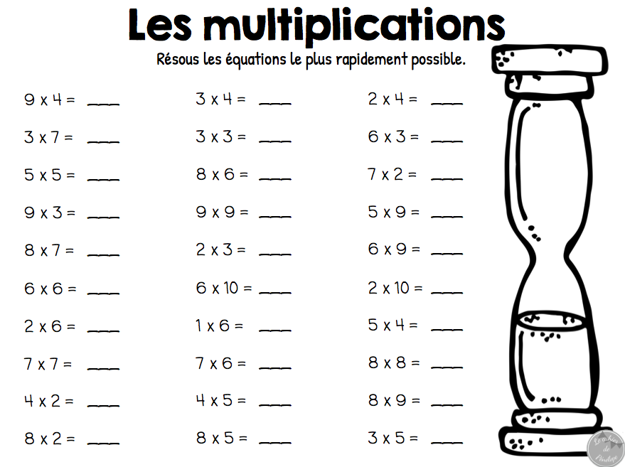 Exercice Table Multiplication 3 4 5 Auto Electrical Wiring