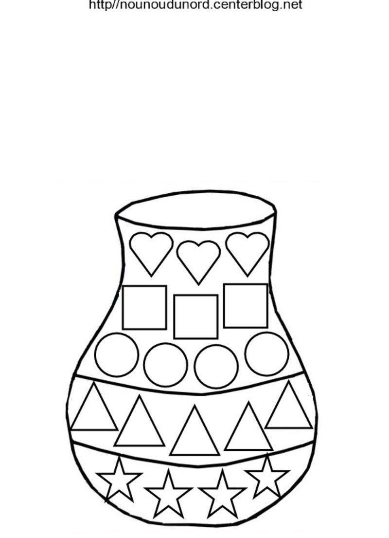 vase gommettes plusieurs formes