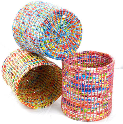 Spiral Foundatin's Wastepaper Baskets made from waste - Core77