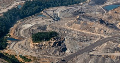 Photo of mountaintop removal mining by Kent Mason