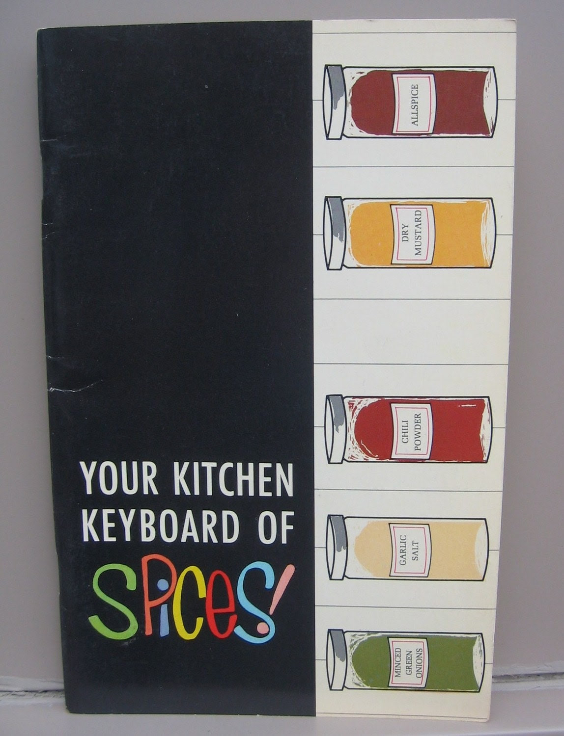 1950's Your Kitchen Keyboard of Spices Guide from R.T. French Co.