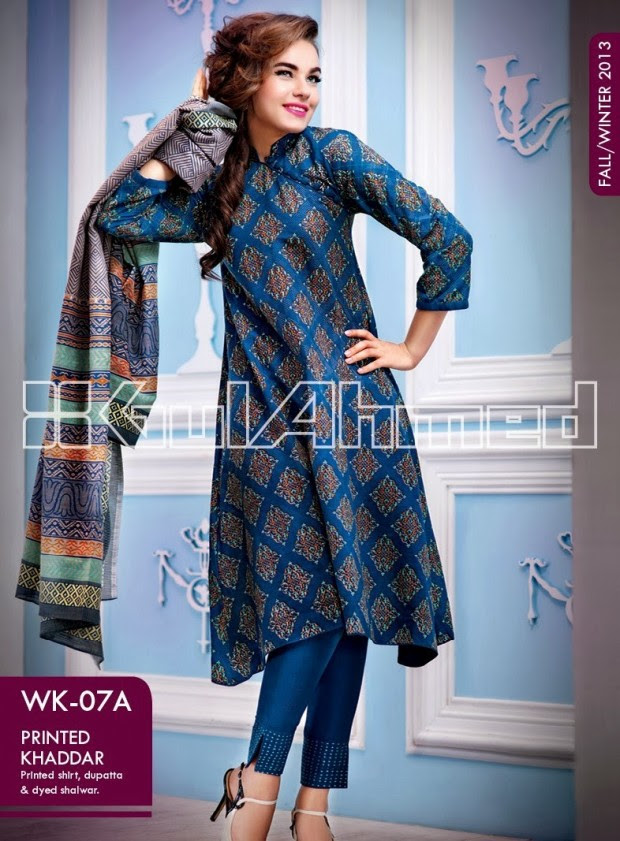 Beautiful-Cute-Girls-New-Fashionable-Dress-Design-by-Gul-Ahmed-Fall-Winter-Collection-2013-14-9