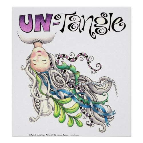 UN-Tangle retreat poster zazzle_print