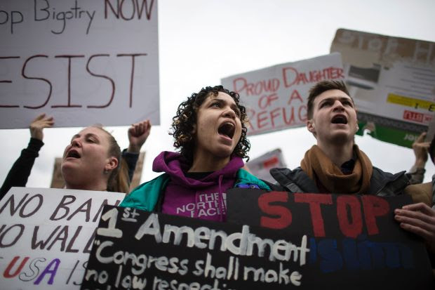 Image result for immigration protests 2017