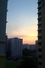 Sunset at HDB estate