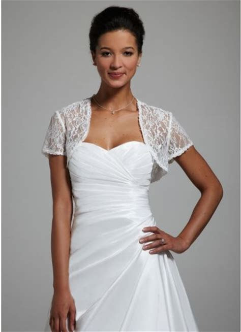Short Sleeve Lace Jacket   David's Bridal