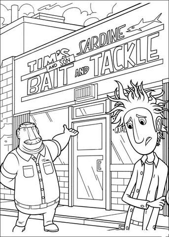 Dibujo De Bienvenidos A La Tienda De Tim Para Colorear Dibujos