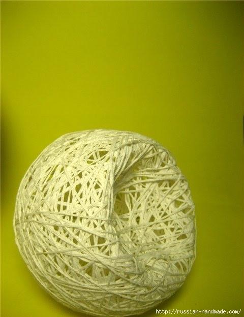 Нежные цветы, снеговик и декоративные шары из ниток. Мастер-классы (21) (480x624, 130Kb)