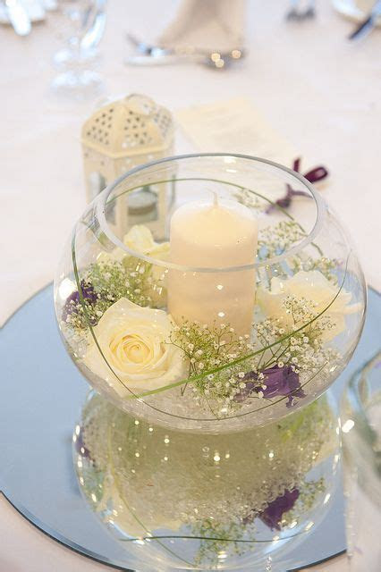 fish bowl in 2019   Centerpieces   Wedding table
