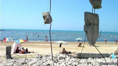 A beach in Albania in 2003