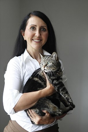 Liz Jones and her pet cat, Sweetie