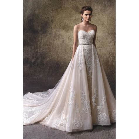 Lucie By Enzoani   Lace Tulle Removable Skirt Floor
