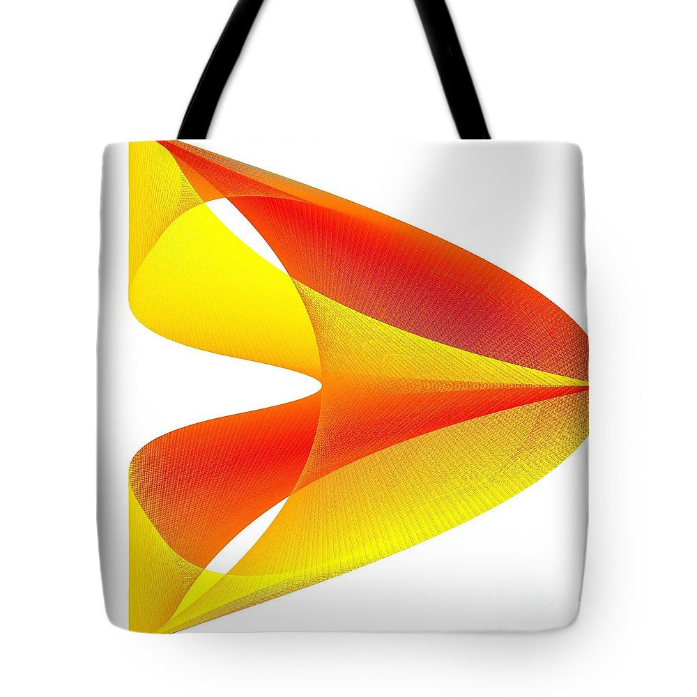 Cusp Tote Bag featuring the digital art Cusp by Michael Skinner