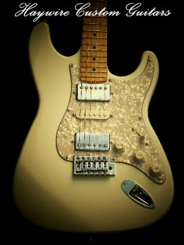Haywire Double Fat Plus in Antique White with Blocked Tremolo