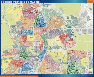 Mapa Comunidad De Madrid Por Codigos Postales.Codigo Postal Madrid Mapa Mapa