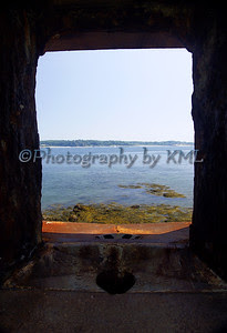 view through the old fort