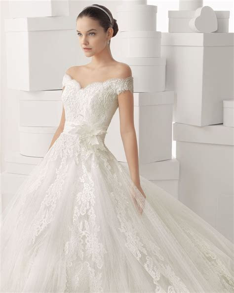Buy 2014 Glamorous Off The Shoulder Ball Gown Lace Wedding