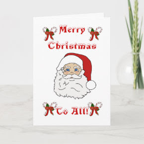 Color Me Christmas Greeting Card card