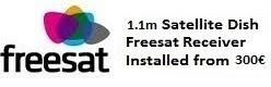 1.1m satellite dish installations for uk tv freesat costa blanca spain
