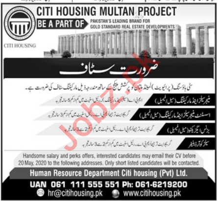 Business Executive & Sales Coordinator Jobs in Citi Housing