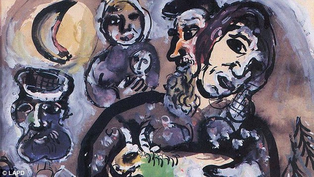 Not over: The FBI investigation of the art theft is continuing and additional suspects are being sought. Authorities are also are looking for three additional paintings stolen from the couple's home in the Encino neighborhood of Los Angeles in August 2008 in a daylight art heist that ranks among the biggest in the city's history