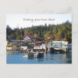 Orcas Island greetings postcard