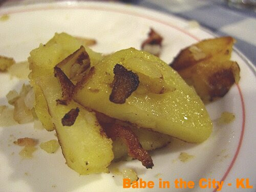 ED - potatoes with bacon bits