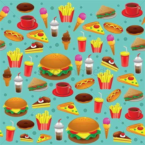 Food background Vector Image   1305818   StockUnlimited