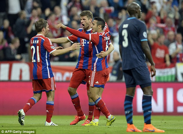 Bayern Munich produced a stunning display in the second leg to beat Porto in the quarter-finals