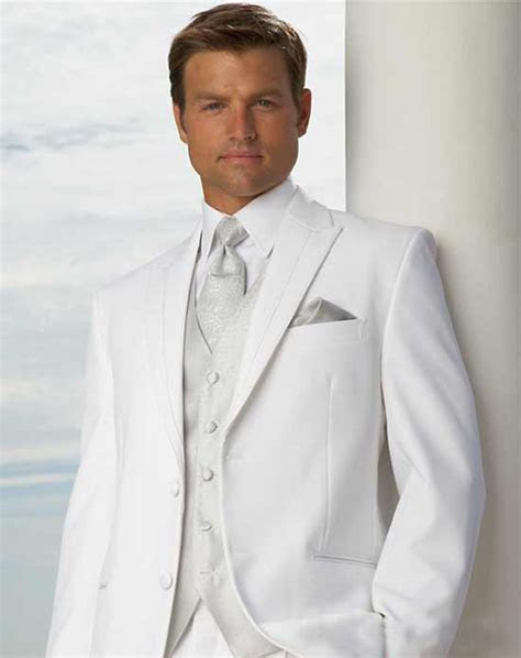 White Wedding Tuxedos For en Groom Tuxedos Best Man